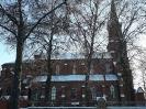 Sanktuarium w Miedznie zimą